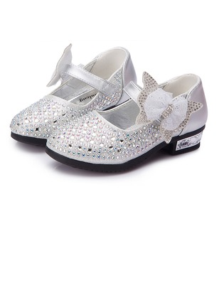 Girls' Bowknot Split Joint Stitching Lace Magic Tape PU Daily Girls' Shoes