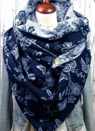 Casual Floral Scarves (106942875)