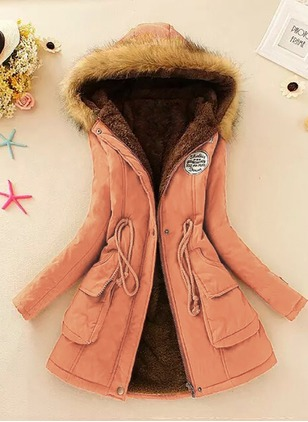 Cotton & Cotton Blend Long Sleeve Lapel Zipper Coats