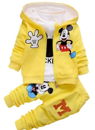 Boys' Cute Cartoon Daily Long Sleeve Clothing Sets