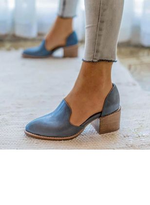 Closed Toe Chunky Heel Shoes (1291480)