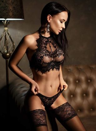 Plain Mesh Lingerie Sets (1179923)