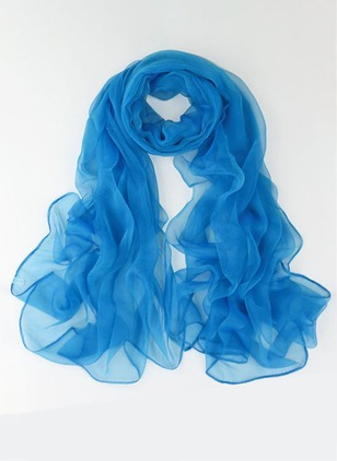 Cute Polyester Solid Scarves