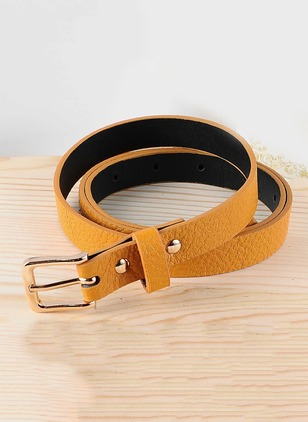 Elegant Leatherette Solid Belts