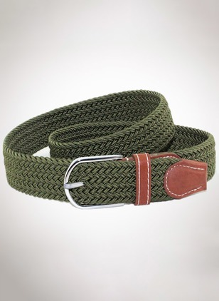 Knitted Metal Color Block Belts