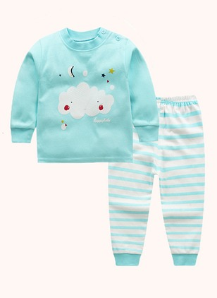 Girls' Cartoon Going out Long Sleeve Clothing Sets