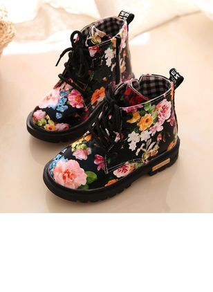 Girls' Flower Lace-up Outdoor Girls' Shoes