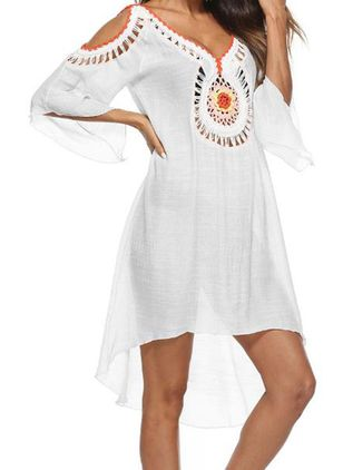 Polyester Geometric Cover-Ups Swimwear (147156489)
