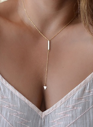 Geometric No Stone Without Pendant Necklaces