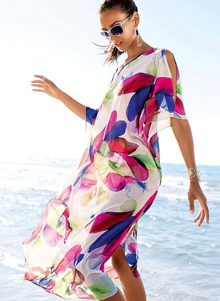Chiffon Pattern Cover-Ups Swimwear