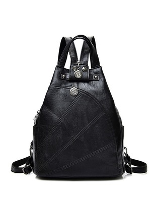 Backpacks Fashion PU Studded Convertible Bags