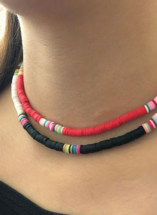 Casual Round No Stone Chokers (4355551)