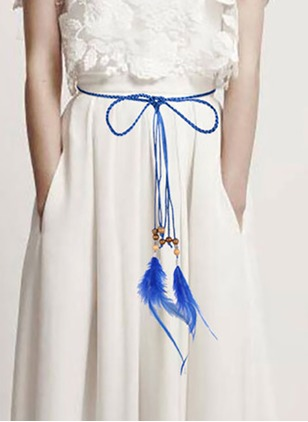 Cute Fabric Tassel Solid Belts