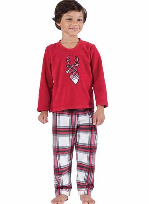 Boys' Christmas Animal Daily Long Sleeve Clothing Sets