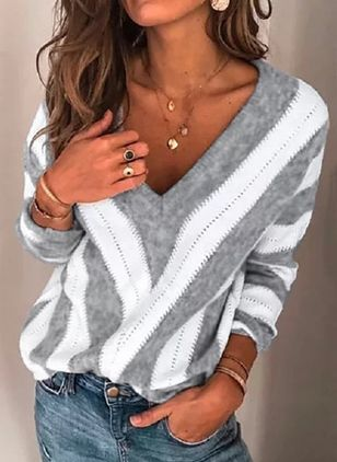 Color Block Sweaters (1373452)