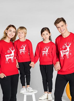 Family Look Animal Casual Long Sleeve Family Outfits (4073843)