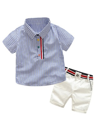 Boys' Floral School Short Sleeve Clothing Sets