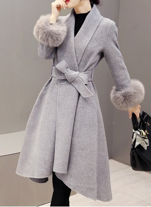 Polyester Long Sleeve Other Duffle Coats Coats Coats