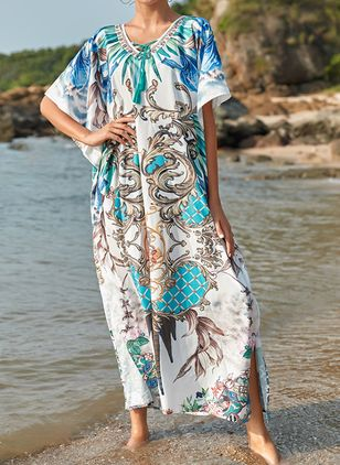 Polyester Floral Cover-Ups Swimwear (111607848)
