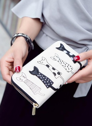 Clutches Wallets Fashion PU Print Bags
