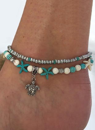 No Stone Ball Star Animal Round Anklet