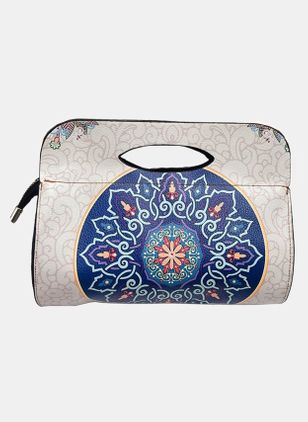 Clutches Vintage Print Double Handle Bags (104135116)