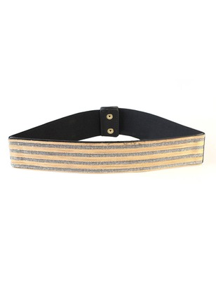 Elegant Fabric Color Block Belts