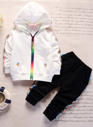 Boys' Color Block Going out Long Sleeve Clothing Sets