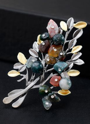 Floral No Stone Brooches (120647876)