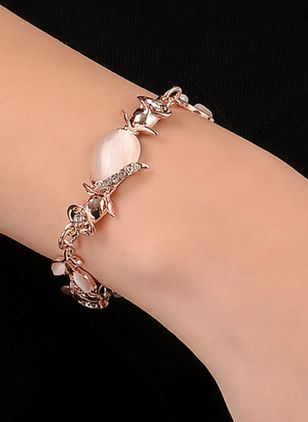 Elegant Water Drop Gemstone Link Bracelets (111608119)