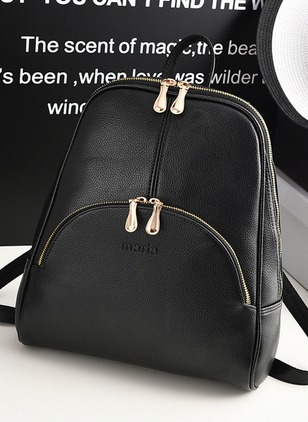Backpacks Fashion PU Zipper Adjustable Bags