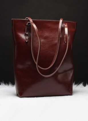 real leather Shoulder Fashion Double Handle Bags (1012634)