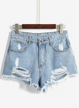 Skinny Cotton Jeans Shorts Pants & Leggings