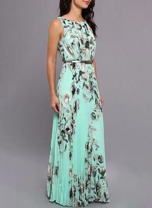 Floral Tank Sleeveless Maxi A-line Dress
