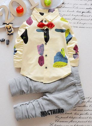 Boys' Casual Color Block Daily Long Sleeve Clothing Sets