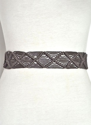 Fabric Hollow Out Solid Belts