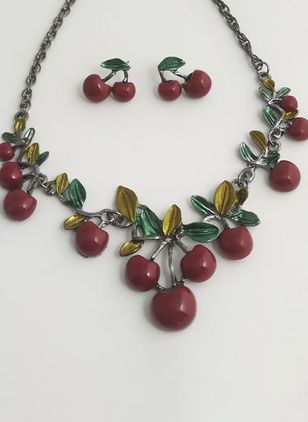 Floral No Stone Necklace Jewelry Sets (1527848)