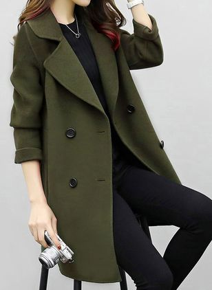 Duffle Coats Boutons Revers Manches longues