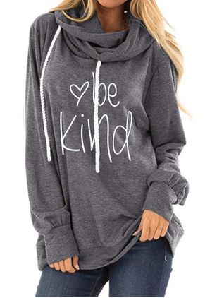 Alfabet Casual Hooded Sweaters (4448381)