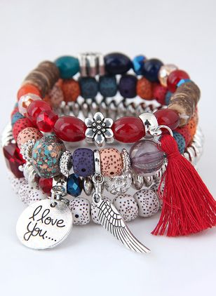 Vintage Tassel Ball No Stone Beaded Bracelets (107520009)
