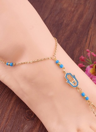 No Stone Round Anklet