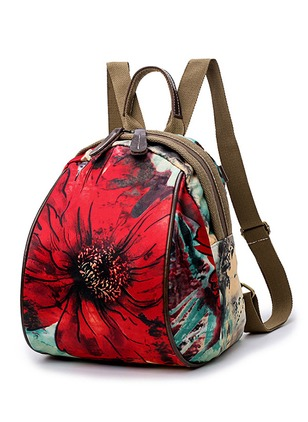 Backpacks Polyester Print Double Handle Bags
