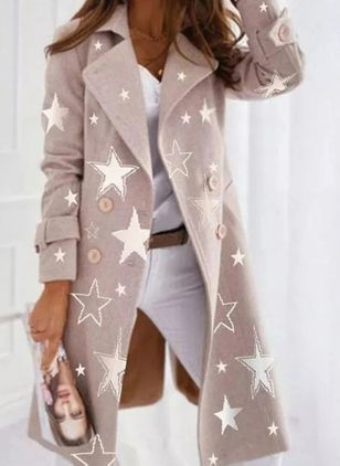 Long Sleeve Lapel Buttons Coats (146878937)