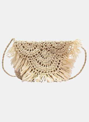 Shoulder Vintage Tassel Double Handle Bags (5501571)