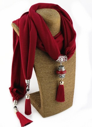 Casual Cotton Solid Scarves