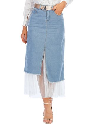 Denim Skirts (147156560)