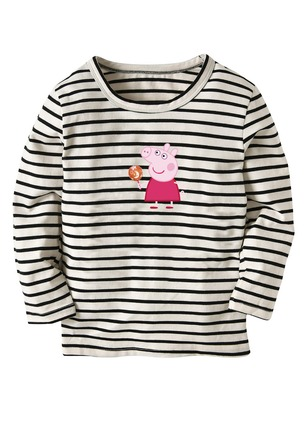 Boys' Cartoon Round Neckline Long Sleeve Tops