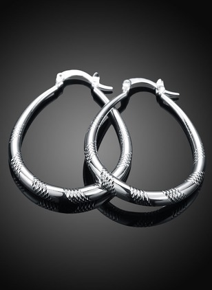 No Stone Hoop Earrings 1 pairs