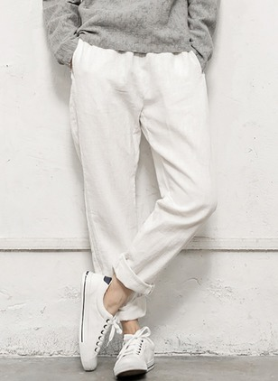 Loose Cotton Linen Pants Pants & Leggings