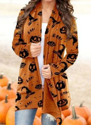 Long Sleeve Lapel Blanket Coats (106822446)